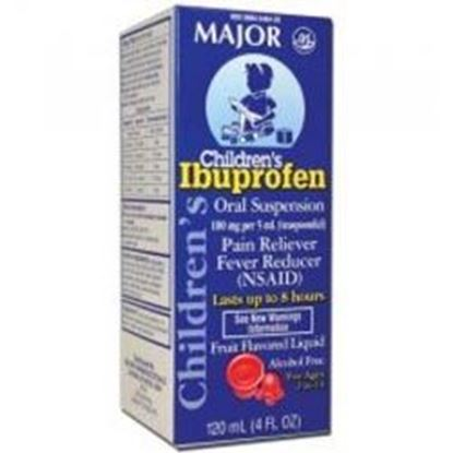 Picture of Major Analgesic-Childrens Ibuprofen, Oral Suspension, Berry, 118mL