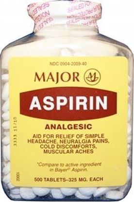 Picture of Major Aspirin Tableys, 325mg