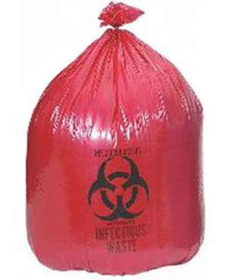 """Picture of Medegen Saf-T-Seal® Waste Infectious Bag, 17"""" x 18"""", 8 microns, Can Liner"""