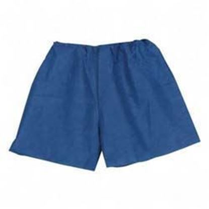 "Picture of MediShorts®, Disposable, Small/Medium, 18"" to 44"" Waist,  Navy Blue, Non-Woven Material"