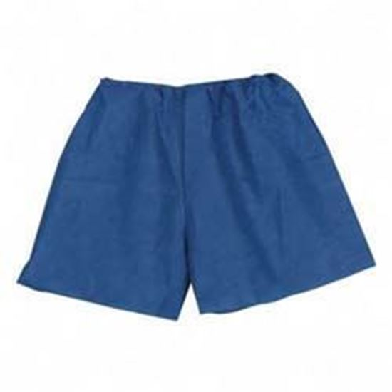 """Picture of MediShorts®, Disposable, Small/Medium, 18"""" to 44"""" Waist,  Navy Blue, Non-Woven Material"""