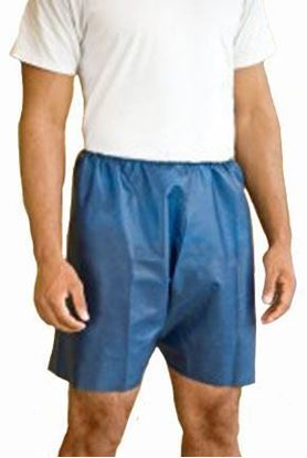 "Picture of MediShorts®, Disposable, Large/X-Large, 22"" to 48"" Waist, Navy Blue, Non-Woven Material"