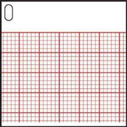 "Picture of Mortara Burdick Assurance 50™ ECG Recording Paper, 8.5"" x 11"", Red Grid, Z-Fold, 200/pd"