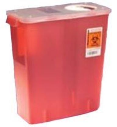 Picture of Multi-Purpose Sharps Container 2qt, Red, Roto Opening Lid