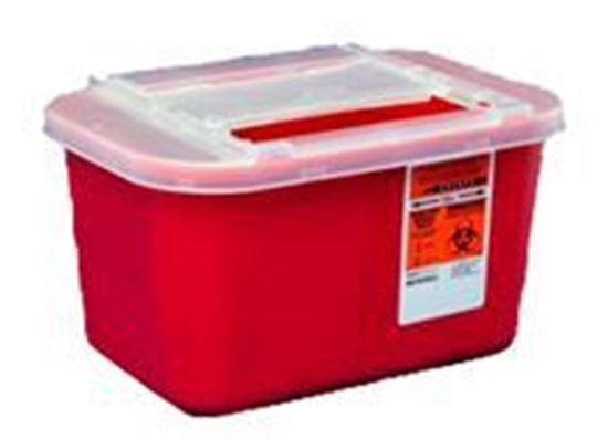 Picture of Multi-Purpose Sharps Container with Sliding Lid, 1 Gallon, Red