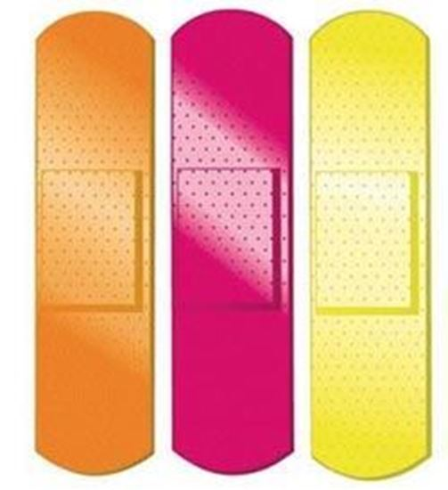"Picture of Neon Stat Strip® Bandages, ¾"" x 3"""