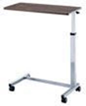 "Picture of Non-Tilt Overbed Table, highest 47"",Lowest 30"", depth 15"""