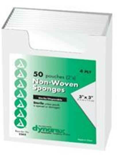 """Picture of Non-Woven Sponges, Sterile 2's, 3"""" × 3"""" 4-Ply"""