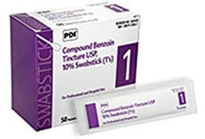 Picture of PDI Benzoin Tincture Swabsticks, 1/pkg, 50 pkg/box