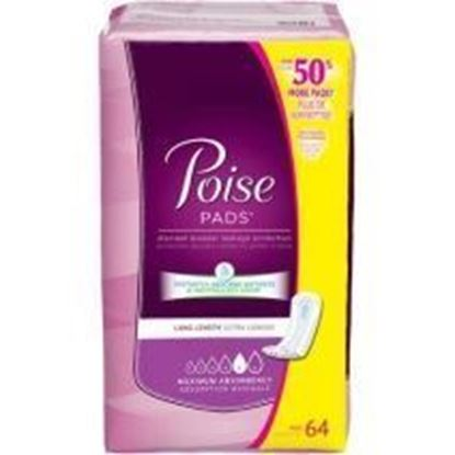 "Picture of Poise® Maximum Absorbency Female Incontinence Pad, 14""L, 64 count"