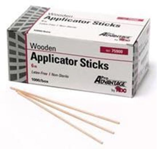 "Picture of Pro Advantage® Applicator Stick 6"" x1/12"", Wood Shaft, Non-Sterile"