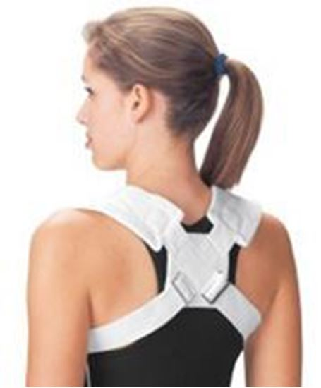 """Picture of ProCare® Clavicle Splint, 30"""" - 36"""", Adjustable Buckle, White, Medium"""