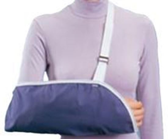 Picture of ProCare® Clinic Arm Sling, Blue, Medium, Pack/6