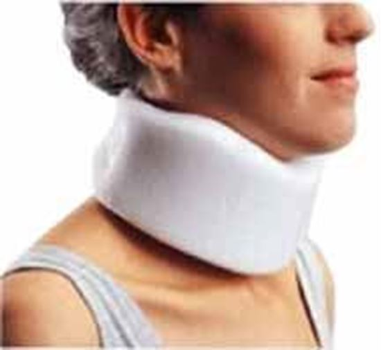 "Picture of ProCare® Clinic Low Density Cervical Collar, Low, 3"" Height, Beige, X-Large"