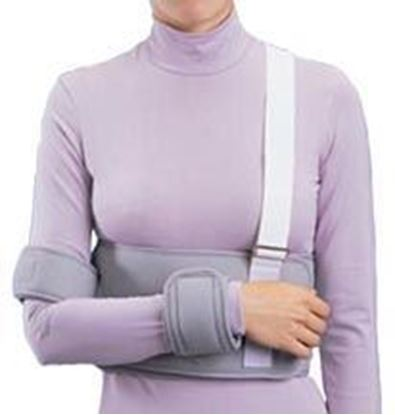 Picture of ProCare® Clinic Shoulder Immobilizer, Sling, Black, X-Large, Universal