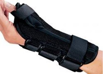 Picture of ProCare® ComfortFORM® Wrist w/Abducted Thumb, Black Pediatric/XS, Right