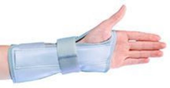 """Picture of ProCare® Deluxe Wrist & Forearm Support, 7"""", Grey, Medium, Left"""