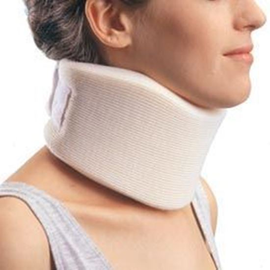 """Picture of ProCare® Form Fit Cervical Collar, Firm Density, 4.5"""" Height, Beige, Large"""