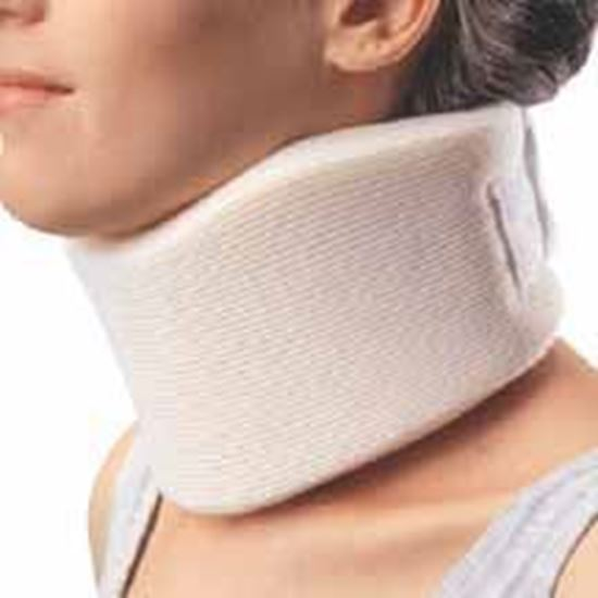 """Picture of ProCare® Serpentine Cervical Collar, Medium Density, 4"""" Height, Beige, Large/Stout"""