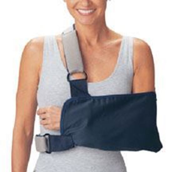 Picture of ProCare® Shoulder Immobilizer w/Foam Straps, Sling, Blue, Small, Universal