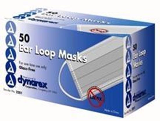 Picture of Procedure Face Mask with Ear Loop, Blue    (Non-Refundable item – No Returns)