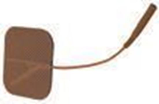 Picture of Reusable Tan Cloth Electrodes w/ Tyco Gel, 4/pk