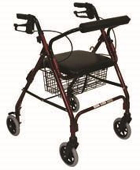 Picture of Rollator with Padded Seat, Burgundy