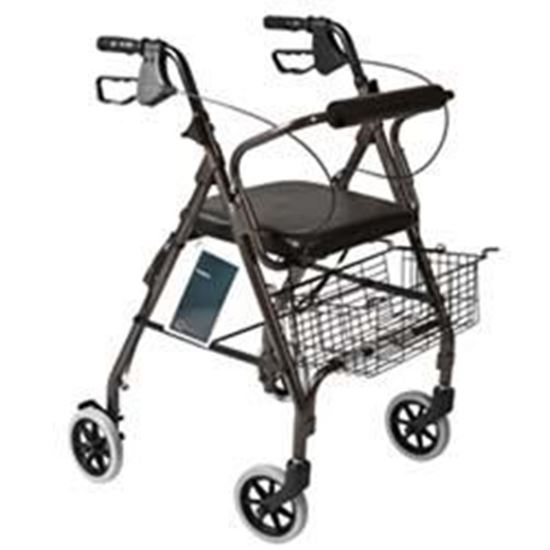 Picture of Rollator with Padded Seat, Granite Gray
