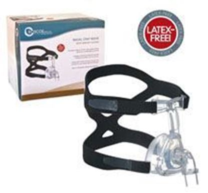 Picture of Roscoe Standard Nasal CPAP Mask w/Headgear, Medium