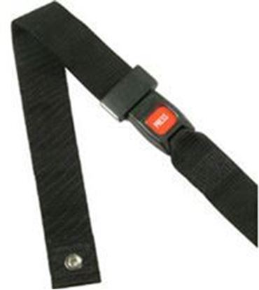 "Picture of Seat Belt, Adult, Black Push Button Size:2"" x 48"""