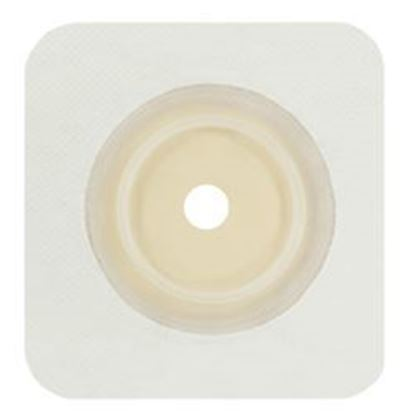 """Picture of Securi-T ® USA,Flat Wafer, Cut-to-Fit/Flexible Collar,Flange 1½"""",4¼"""" x 4¼"""",White"""