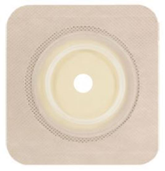 "Picture of Securi-T ® USA,Flat Wafer, Cut-to-Fit/Flexible Collar,Flange 1¾"",4¼"" x 4¼"",Tan"