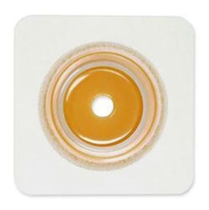 "Picture of Securi-T ® USA,Flat Wafer, Cut-to-Fit/Flexible Collar,Flange 1¾"",4¼"" x 4¼"",White"