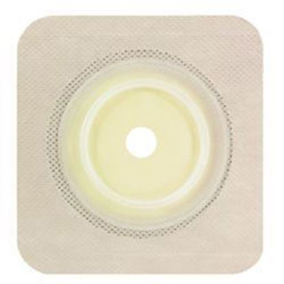 "Picture of Securi-T ® USA,Flat Wafer, Cut-to-Fit/Flexible Collar,Flange 2¼"",5"" x 5"",White"