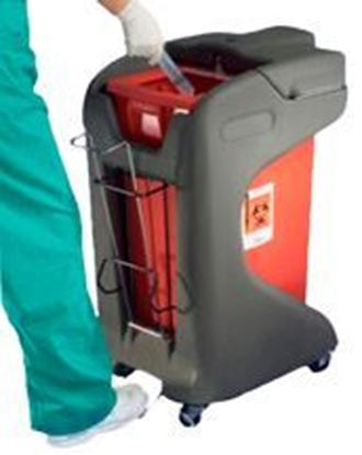 Picture of SharpSafety™ Foot Pedal Cart, for 12gal and 18gal Slide Lid