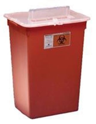 Picture of SharpSafety™ Sharps Container, 12gal, Red, Slide Lid