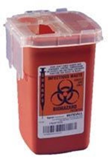 Picture of SharpSafety™ Sharps Container, 2.2qt, Phlebotomy, Red