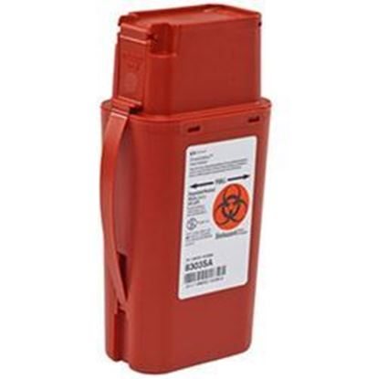 Picture of SharpSafety™ Sharps Container, Transportable, Flip Top,  Red, 1 Quart