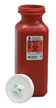 Picture of SharpSafety™ Transportable Sharps Container, 1.5qt, Red, Screw Cap