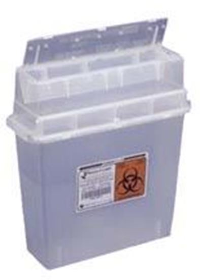 Picture of Sharps-A-Gator™ Sharps Container, Tortuous Path, Clear, 5 Quart