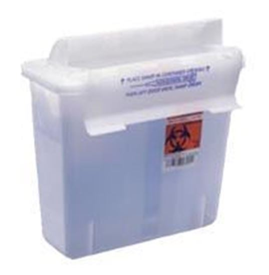 Picture of SharpStar™ Safety In-Room™ Sharps Container w/ Counter Balanced Lid, 5qt, Clear
