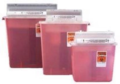 Picture of SharpStar™ Safety In-Room™ Sharps Container w/Counter Balanced Lid, 3gal, Clear
