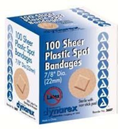 """Picture of Sheer Plastic Adhesive Bandages, 3/8"""" x 1 1/2"""", Junior, Sterile"""