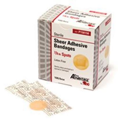 "Picture of Sheer Spot Adhesive Bandages, Latex-Free, 7/8"" Diameter"