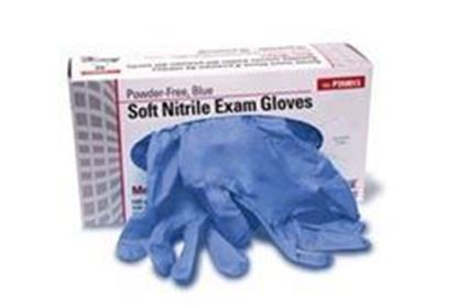 Picture of Soft Nitrile Exam Glove, Powder-Free, Large, Blue