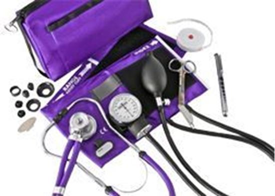 Picture of Sphygmomanometer/Stethoscope Combo Kit, Carrying Case, Deluxe Version, Black
