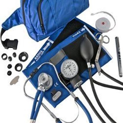 Picture of Sphygmomanometer/Stethoscope Combo Kit, Case, Deluxe Version, Royal Blue