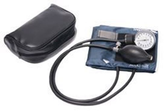 Picture of Standard Pocket Aneroid Sphygmomanometer, Adult, Navy Blue