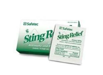 "Picture of Sting Relief Wipe (10 ct. box), 1.125"" x 2.75"""