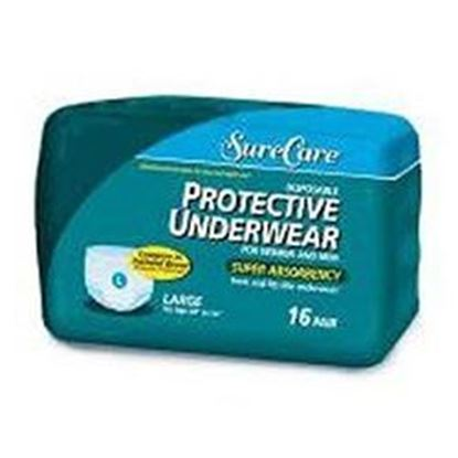 "Picture of Sure Care™ Protective Underwear, Medium 34"" - 46"", Extra Heavy Absorbency, 72/cs"